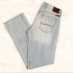 Lucky Brand light wash straight jeans 4/27